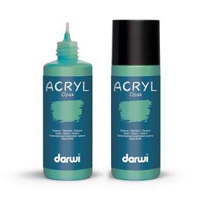 Akrylová barva DARWI ACRYL OPAK 80 ml, smaragdová
