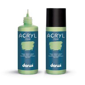 Akrylová barva DARWI ACRYL OPAK 80 ml, pastelově zelená