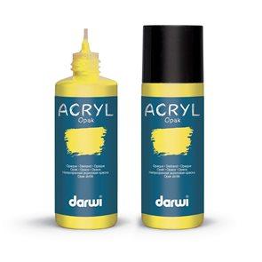 Akrylová barva DARWI ACRYL OPAK 80 ml, citrónová