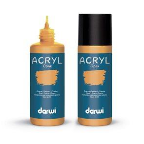 Akrylová barva DARWI ACRYL OPAK 80 ml, okrová