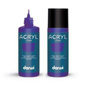 Akrylová barva DARWI ACRYL OPAK 80 ml, fialová