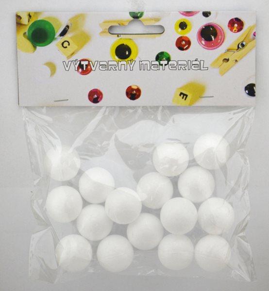 Polystyrenové koule - 15 ks, 25 mm