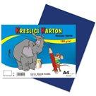 Kreslicí karton barevný A4 -180g - 50 ks - tmavě modrý