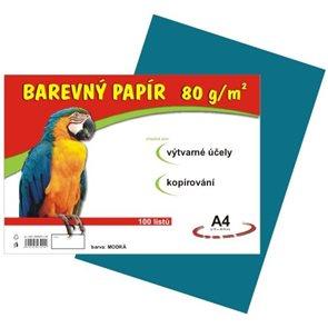 Barevný papír A4 80 g - 100 ks - modrý