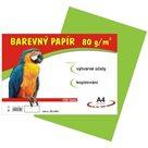 Barevný papír A4 80g - 100 ks - zelený