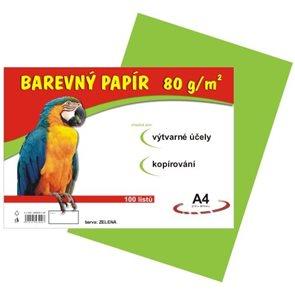 Barevný papír A4 80 g - 100 ks - zelený