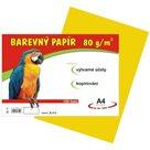 Barevný papír A4 80g - 100 ks - žlutý