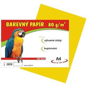 Barevný papír A4 80 g - 100 ks - žlutý