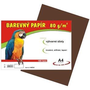 Barevný papír A4 80g - 100 ks - hnědý