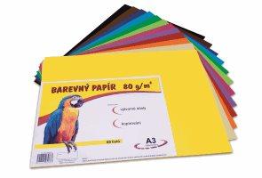 Barevný papír A3 80g - 60 ks - 12 barev
