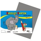 Kreslicí karton barevný A4 -180g - 50 ks - šedý