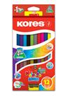Kores Kolores Jumbo DUO 2v1 trojhranné pastelky s ořezávátkem, 12 kusů - 24 barev