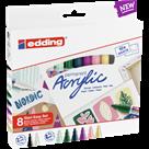 Edding Akrylový popisovač, sada 8 barev Nordic Easy Start