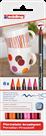 Edding 4200 Popisovač na porcelán, sada 6 teplých barev