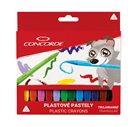 CONCORDE Trojranné plastové pastely - 12 ks