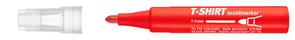 Popisovač ICO na textil, červený