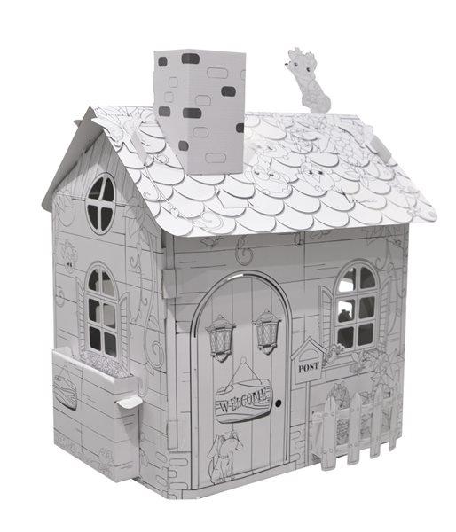 Kartonový domeček CONCORDE, rozměry: šířka 54 cm, hloubka 45 cm, výška 64,5 cm