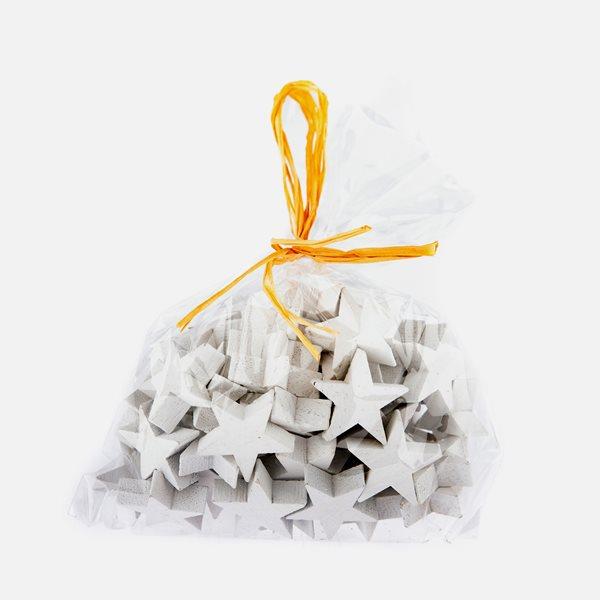 Dekorační dřevěné hvězdy bílé