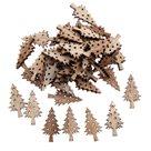 Dekorační dřevěné ozdoby - Stromečky přírodní (50 ks)