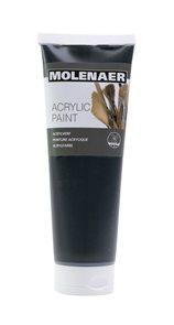 Akrylová barva Molenaer 250 ml - černá