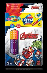 Pastelky Colorino trojhranné, Marvel Avengers - 24 barev