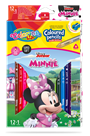 Pastelky Colorino trojhranné, Disney Junior Minnie - 12 barev