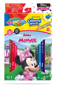Pastelky Colorino trojhranné, Disney Junior Minnie - 12 barev