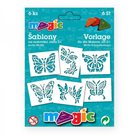 Papírové šablony - Motýli - 6ks