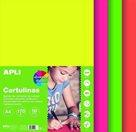 Sada barevných papírů A4, 170 g, 50 listů, mix fluo barev