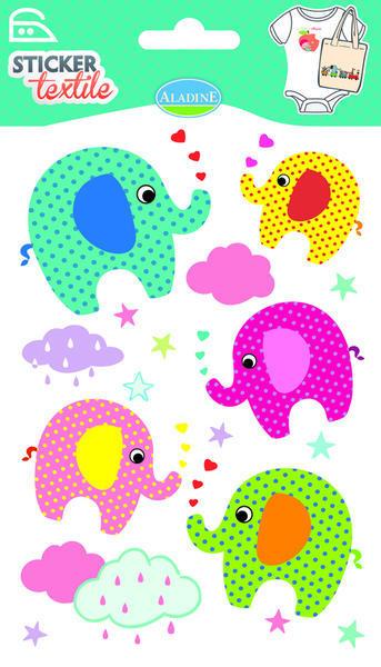 Nažehlovací nálepky na textil - Sloníci