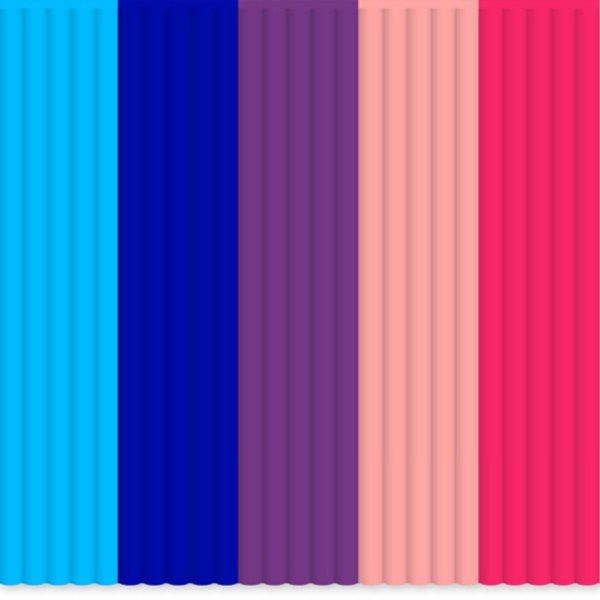 3Doodler Náhradní tyčinky PLA - mix barev BubbleGum