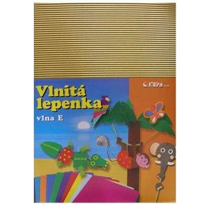 Vlnitý papír 260g - 34,5 x 24,5 cm - 10 listů - zlatá