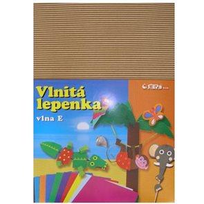Vlnitý papír 260g - 34,5 x 24,5 cm - 10 listů - natur