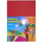 Vlnitý papír 260g - 34,5 x 24,5 cm - 10 listů - červená