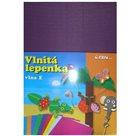 Vlnitý papír 260g - 34,5 x 24,5 cm - 10 listů - violet