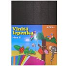 Vlnitý papír 260g - 34,5 x 24,5 cm - 10 listů - černá