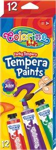 Temperové barvy Colorino 12 ml - 12 barev