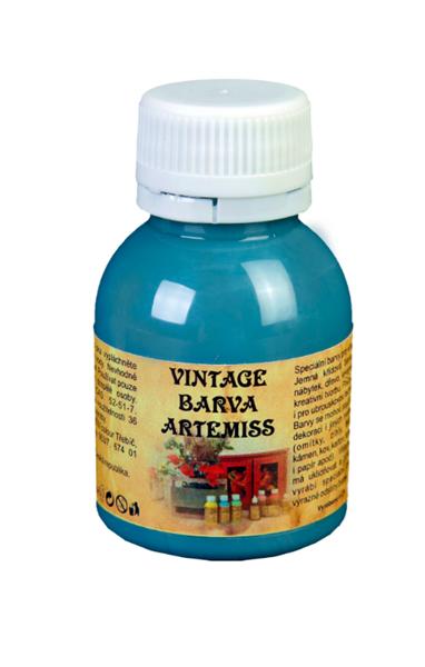 Křídová VINTAGE barva - tmavá tyrkysová, 110 g
