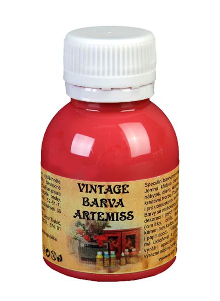 Křídová VINTAGE barva - tmavá červená, 110 g
