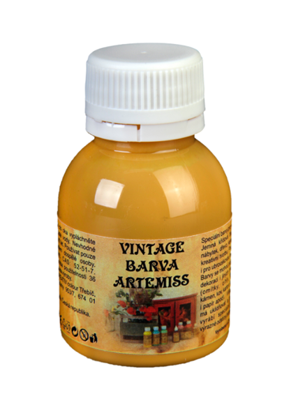 Křídová VINTAGE barva - okrová, 110 g