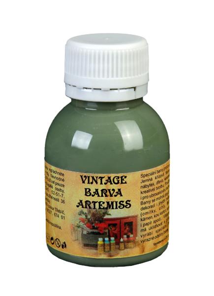 Křídová VINTAGE barva - tmavá olivová, 110 g