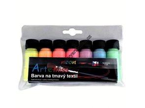 Sada barev na tmavý textil - neonové odstíny  7 x 12g