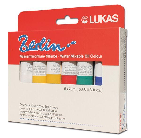 Olejové barvy LUKAS Berlin - 6 x 20 ml