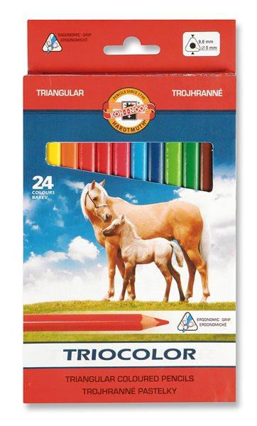 Koh-i-noor pastelky 3144 TRIOCOLOR - 24 barev