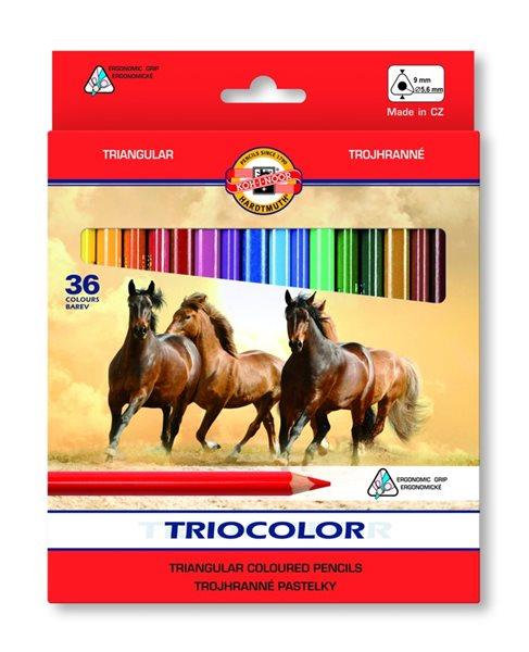Koh-i-noor pastelky 3145 TRIOCOLOR - 36 barev