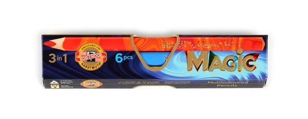 Koh-i-noor souprava pastelek Magic 3408 JUMBO, 6 ks