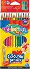 Trojhranné pastelky Colorino - 12 + 1 barva + ořezávátko