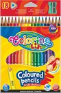 Trojhranné pastelky Colorino - 18 barev + ořezávátko