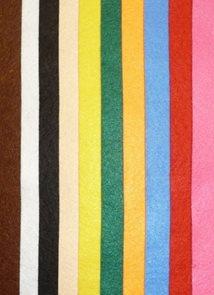 Dekorační filc A4 - mix 10 barev