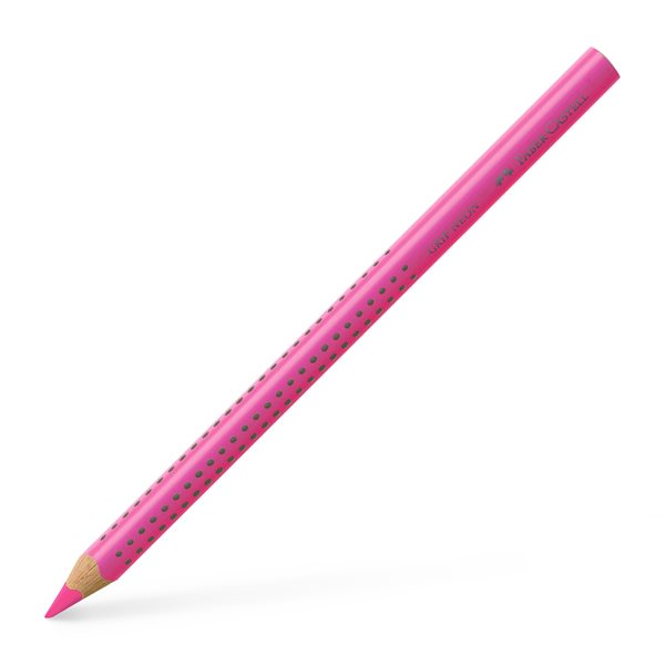 Pastelka Faber-Castell Jumbo Grip Neon, růžová